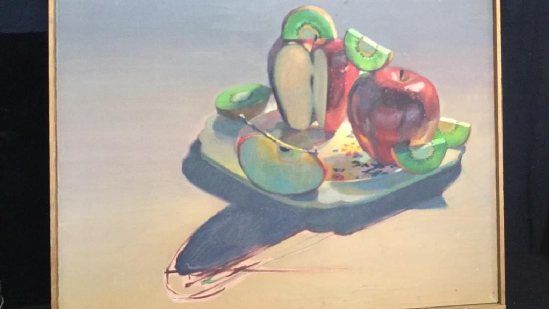 ROBIN SMITH Still Life Painting of Fruit On Canvas - 8