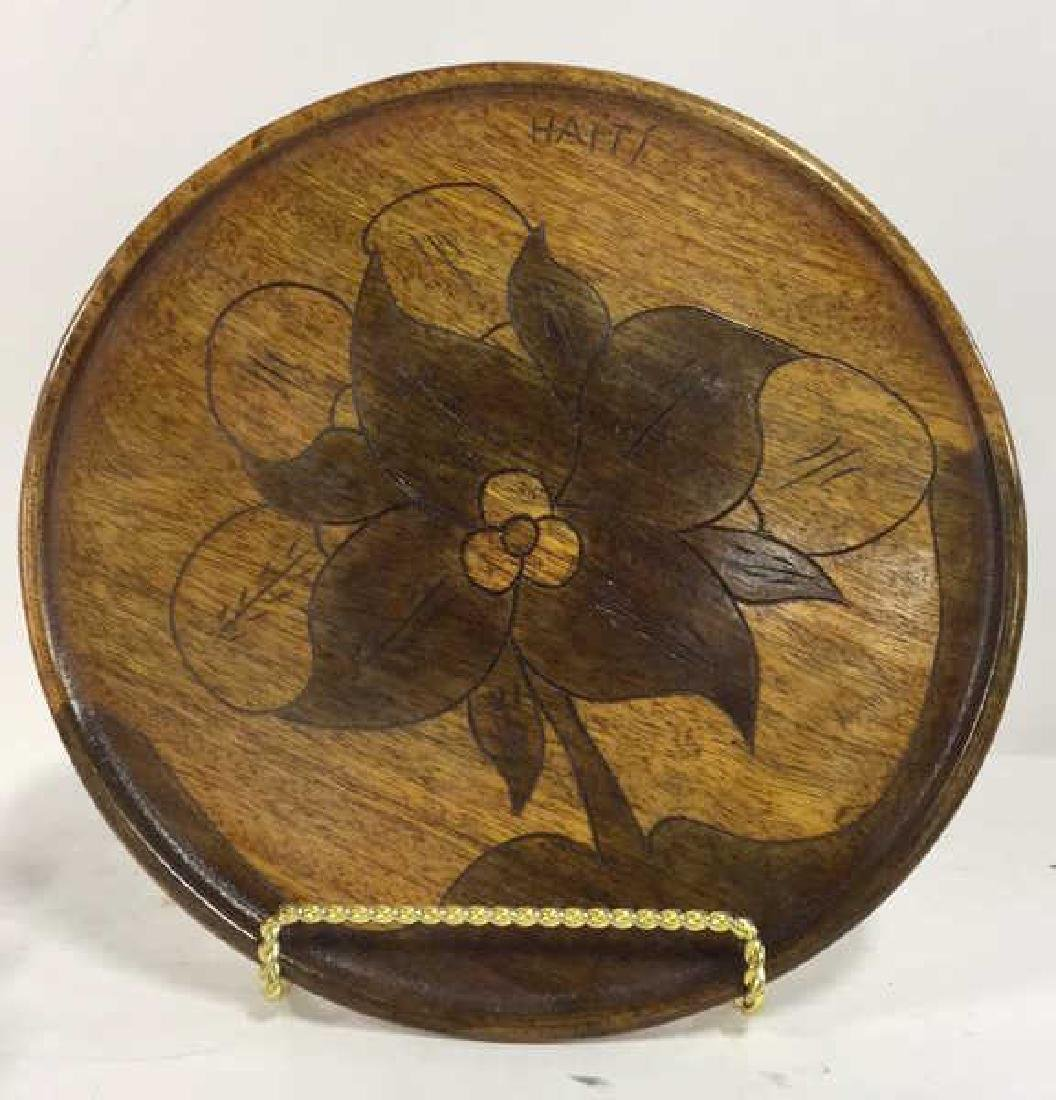 Lot 6 Haitian Wooden Tabletop Accessories - 3