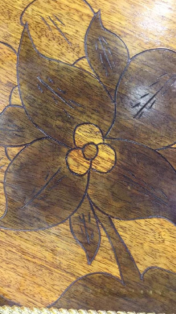 Lot 6 Haitian Wooden Tabletop Accessories - 4