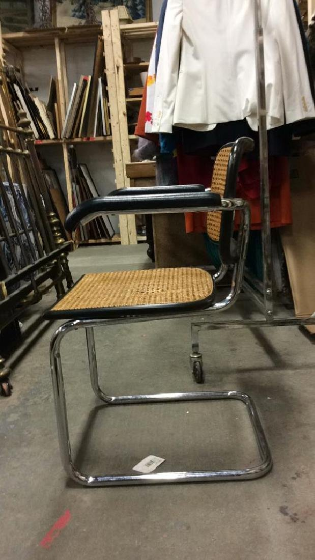 Pair Vintage Chrome and Cane Brueur Chairs - 6