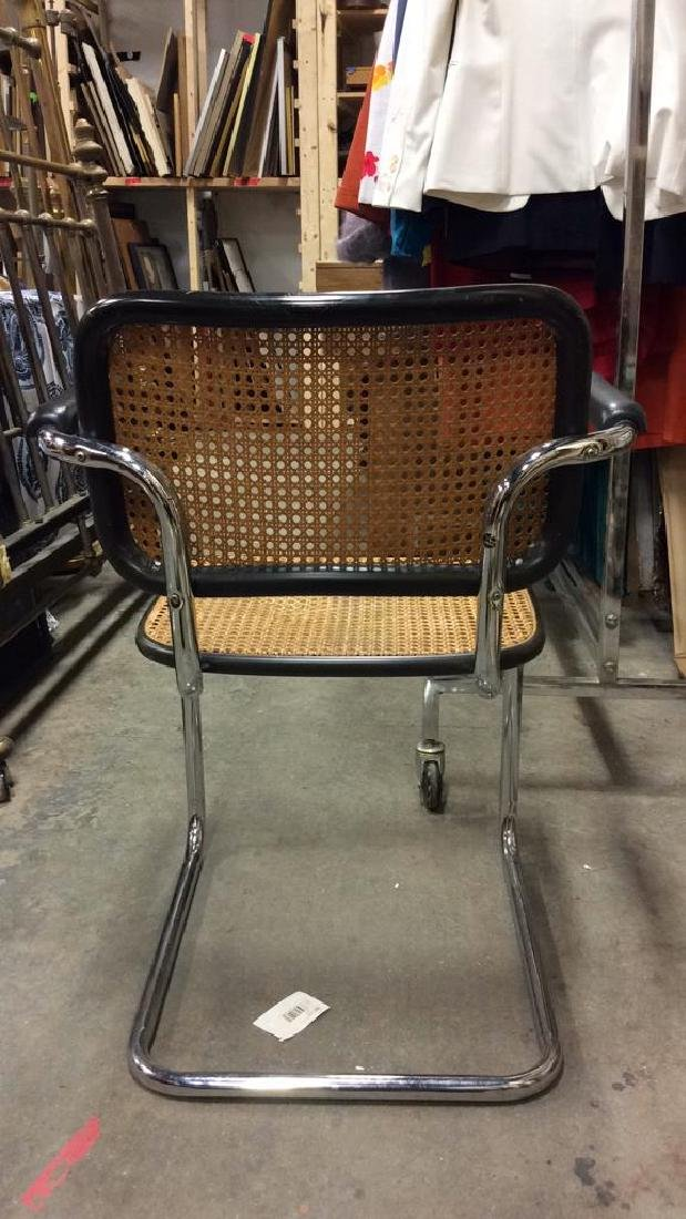 Pair Vintage Chrome and Cane Brueur Chairs - 7