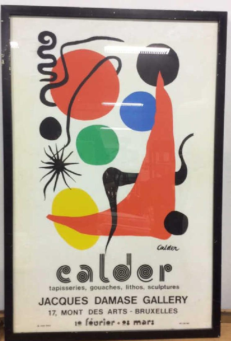 Calder Exhibition Poster Print Artwork