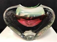 Vintage Blown Art Glass Vase Sculpture
