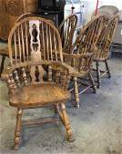 Set 6 Oak Windsor Style Dining Chairs