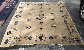 Floral Detail Chinese Art Deco Handmade Rug