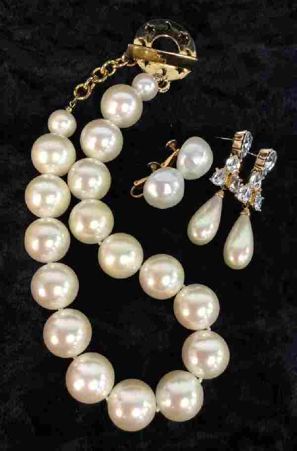 Lot 3 Women's Vintage Designer Costume Jewelry