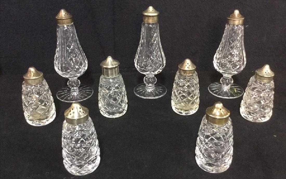 Lot 9 Waterford Crystal Salt Pepper Shakers