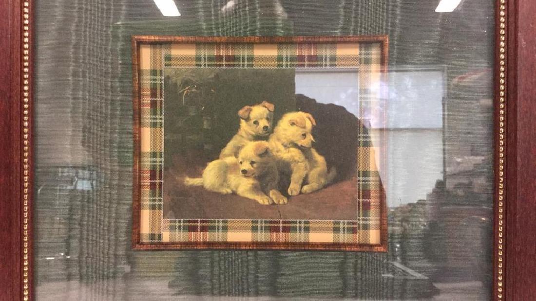 Lot 2 Framed Dog Prints Artwork