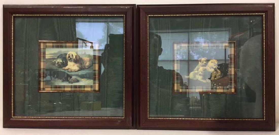 Lot 2 Framed Dog Prints Artwork - 2
