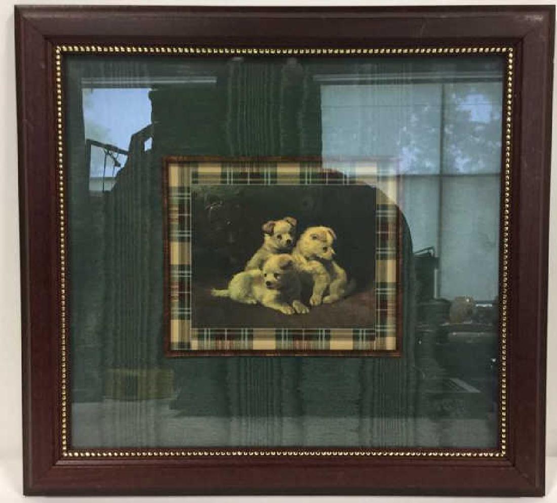 Lot 2 Framed Dog Prints Artwork - 3