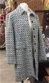 NINE WEST Pleated Wool Womens Coat Size L