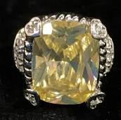 10 K GE White Gold Ring, Jewelry