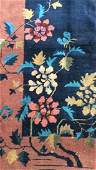 Floral Detailed Chinese Art Deco Handmade Rug
