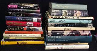 Group Lot Assorted Books, Novels, Art Books