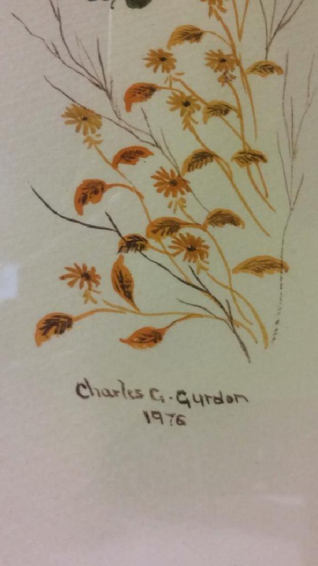 Lot 2 CHARLES G GURDON Framed Artwork - 8