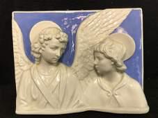 Italian Ceramic Religions Wall Plaque