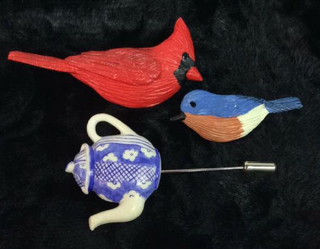 Lot 3 Women's Hat and Brooch Pins Jewelry