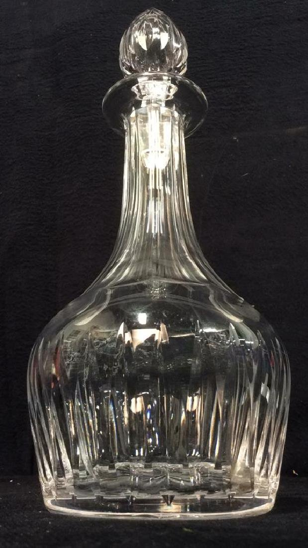 Lot 2 Cut Crystal Decanters W Stoppers - 5