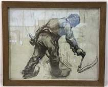 Framed Print Of Charcoal Drawing