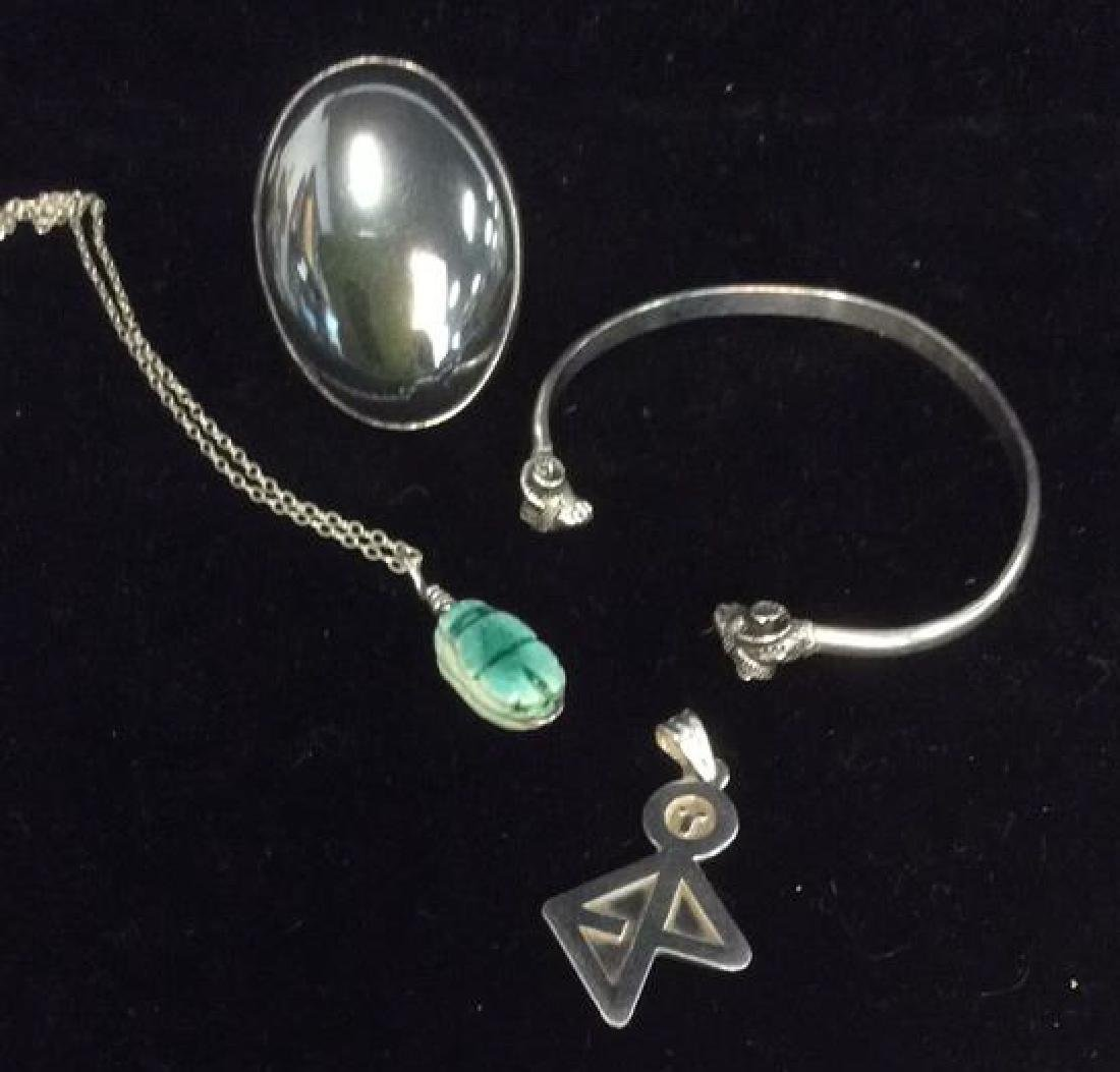 Lot 4 Assorted Silver Toned Women's Jewelry