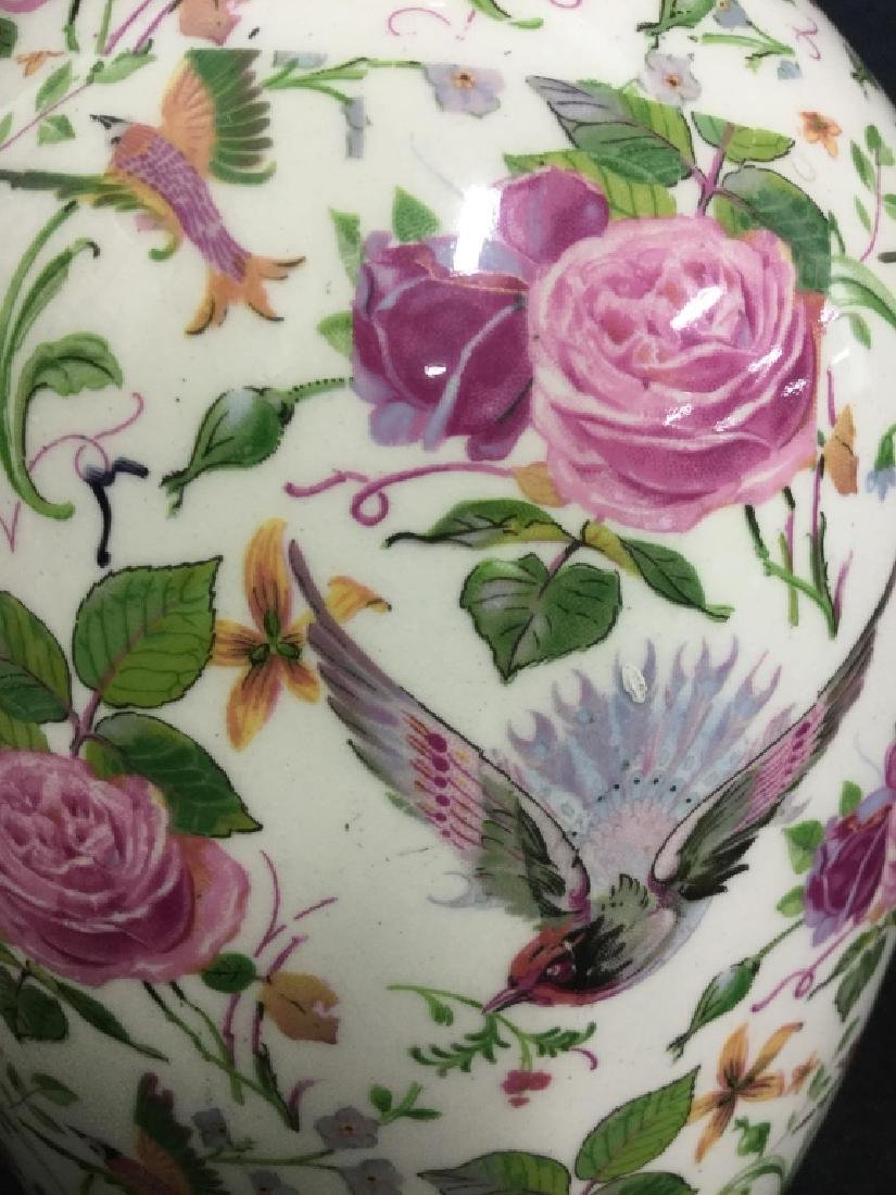 Hand Painted English Porcelain Vase (Crown Ducal) - 3