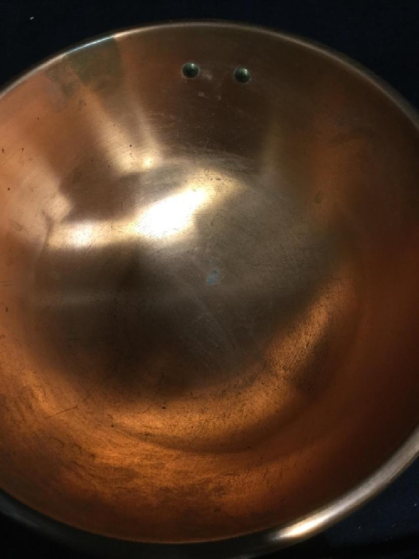 Copper Bowl with Handle - 4
