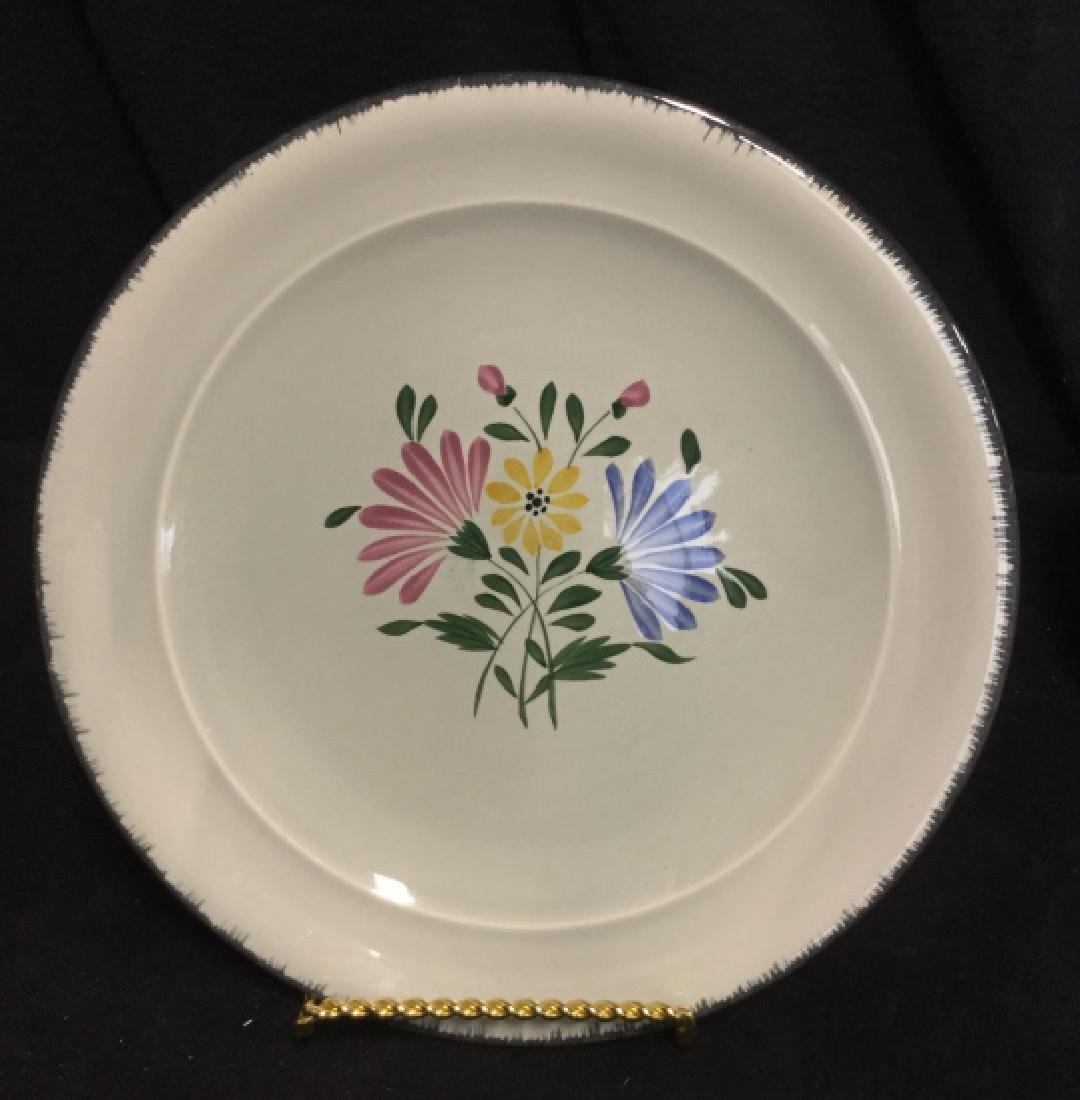 Set 23 Hand Painted French Ceramic Plates - 3