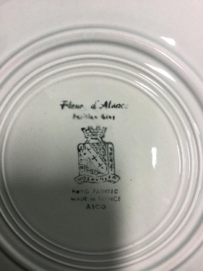Set 23 Hand Painted French Ceramic Plates - 5