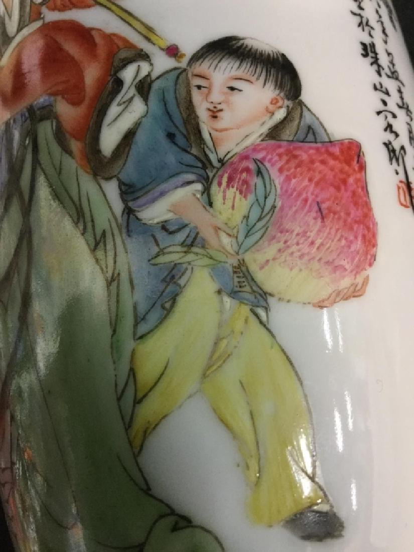 Hand Painted Asian Females on Vase Set, Signed - 7