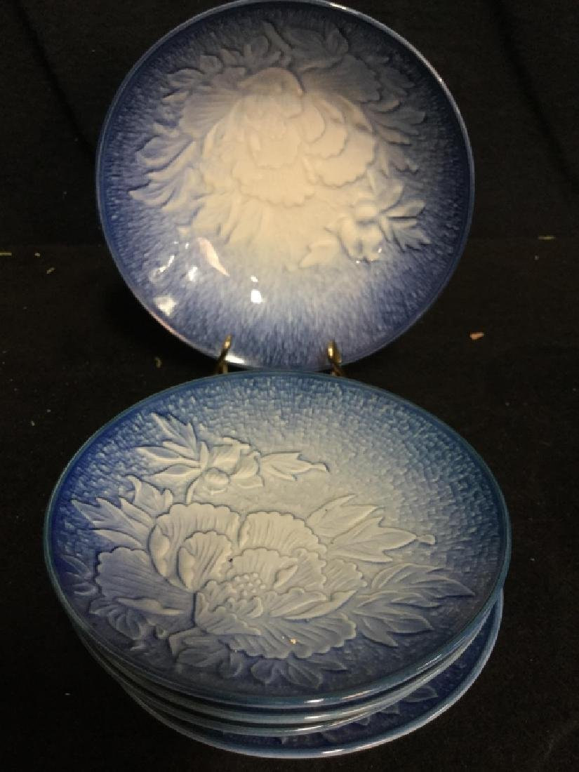 Dessert Plate Set Signed and Painted - 3