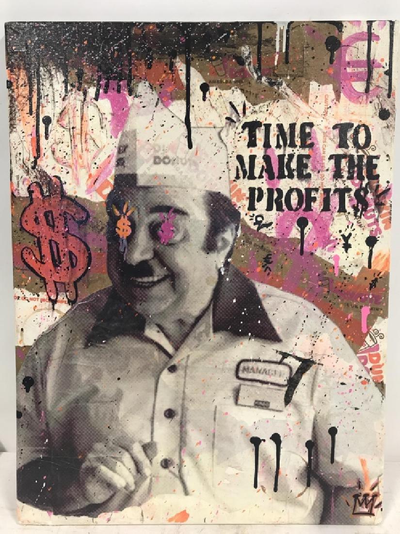 1980s Dunkin Donuts Pop Art Mixed Media