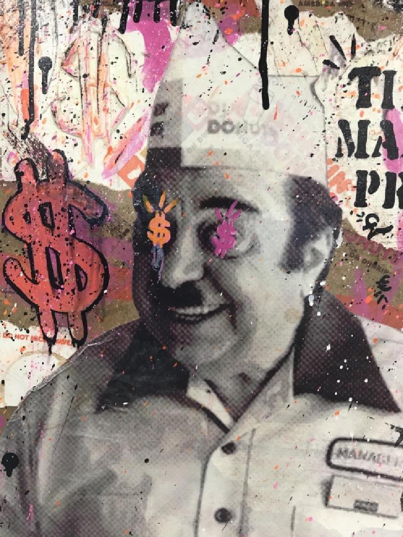 1980s Dunkin Donuts Pop Art Mixed Media - 6
