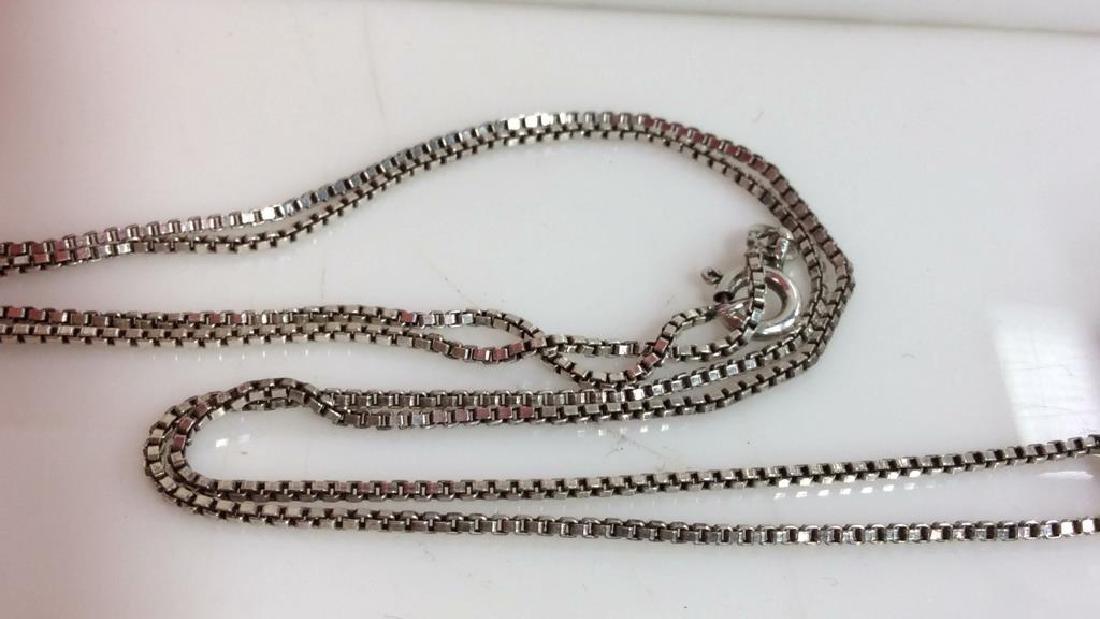 Mid Century Sterling W Smoky Quartz Necklace - 7