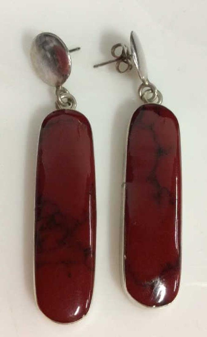 Lot 2 Red Toned Natural Stone Jewelry - 5