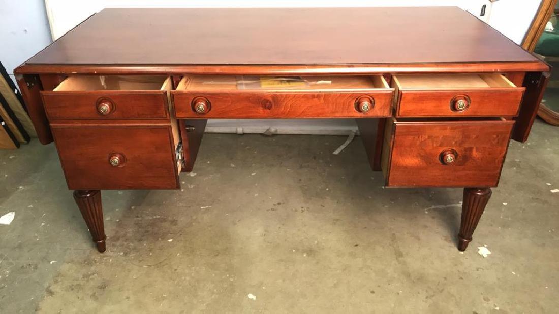 ETHAN ALLEN Poss Mahogany Drop Leaf Desk - 4