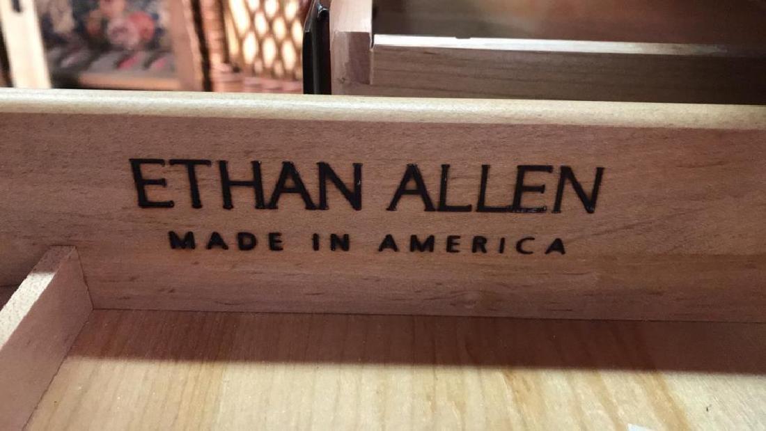 ETHAN ALLEN Poss Mahogany Drop Leaf Desk - 5