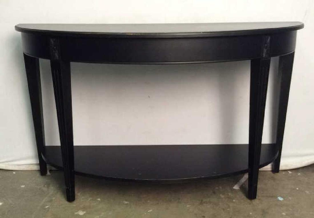 ETHAN ALLEN New Country Black Wooden Console Table