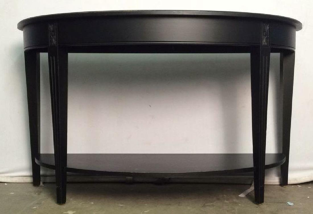 ETHAN ALLEN New Country Black Wooden Console Table - 2