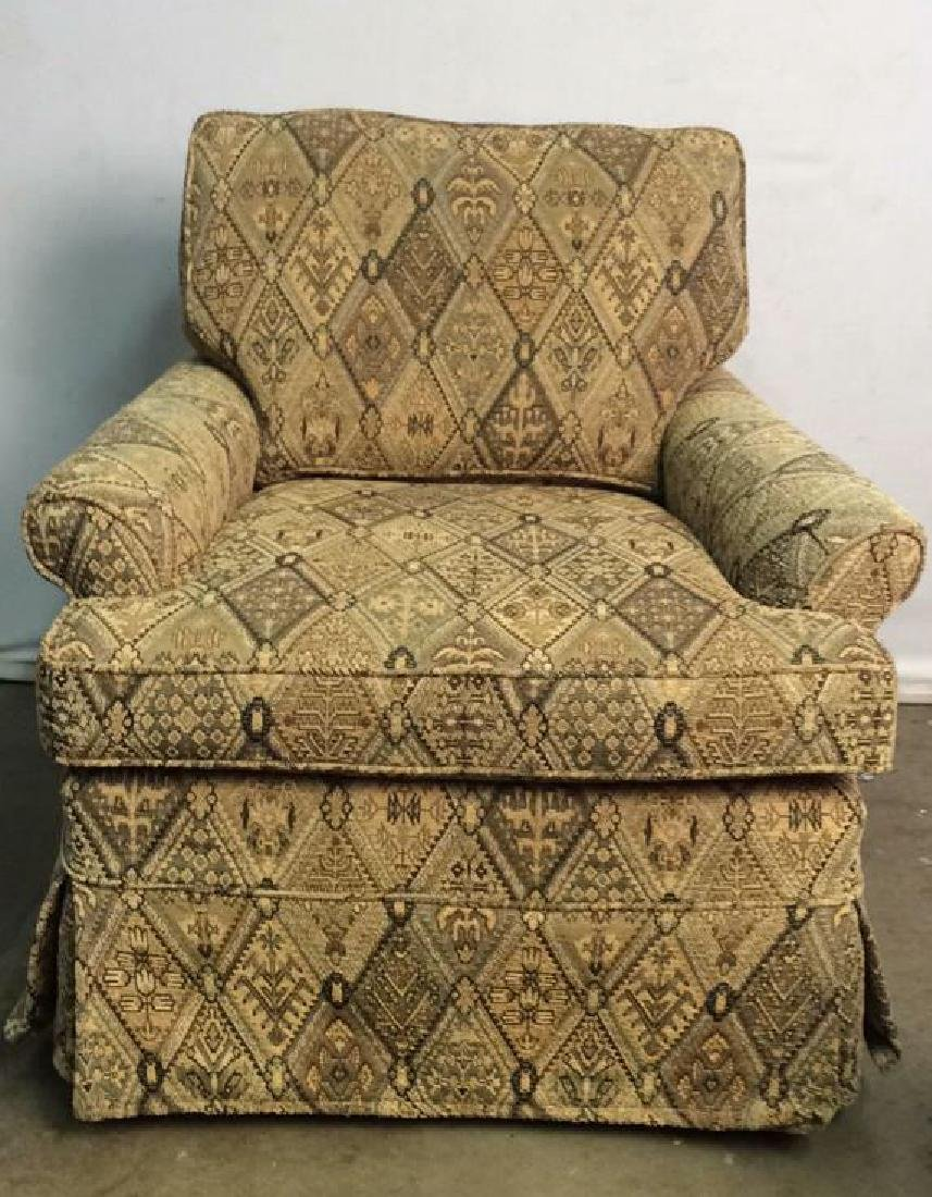 Lot 2 ETHAN ALLEN Arm Chair And Ottoman - 2