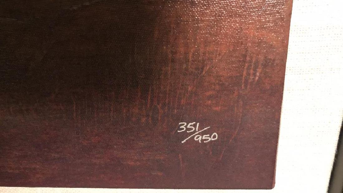 ST JOHN Signed Lithograph Artwork On Canvas - 7