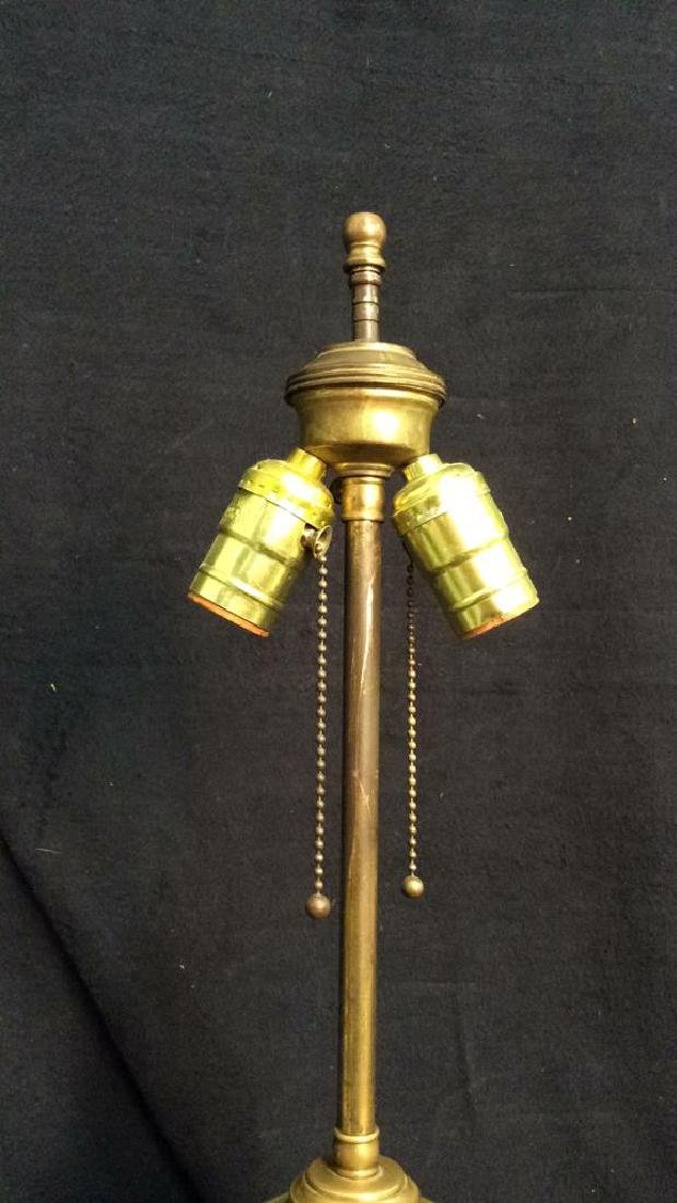 1970s French Barbotine Brass Mounted Lamp - 4