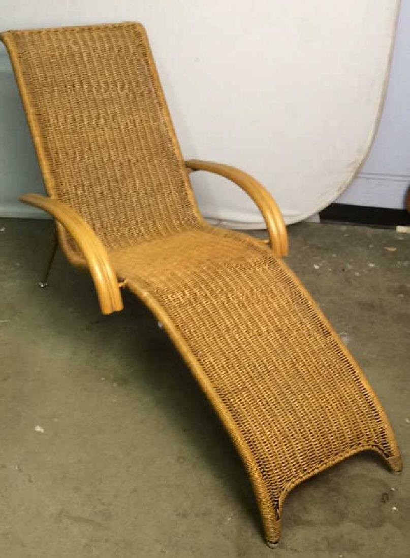 Wicker Rattan Plantation Lounge Arm Chair