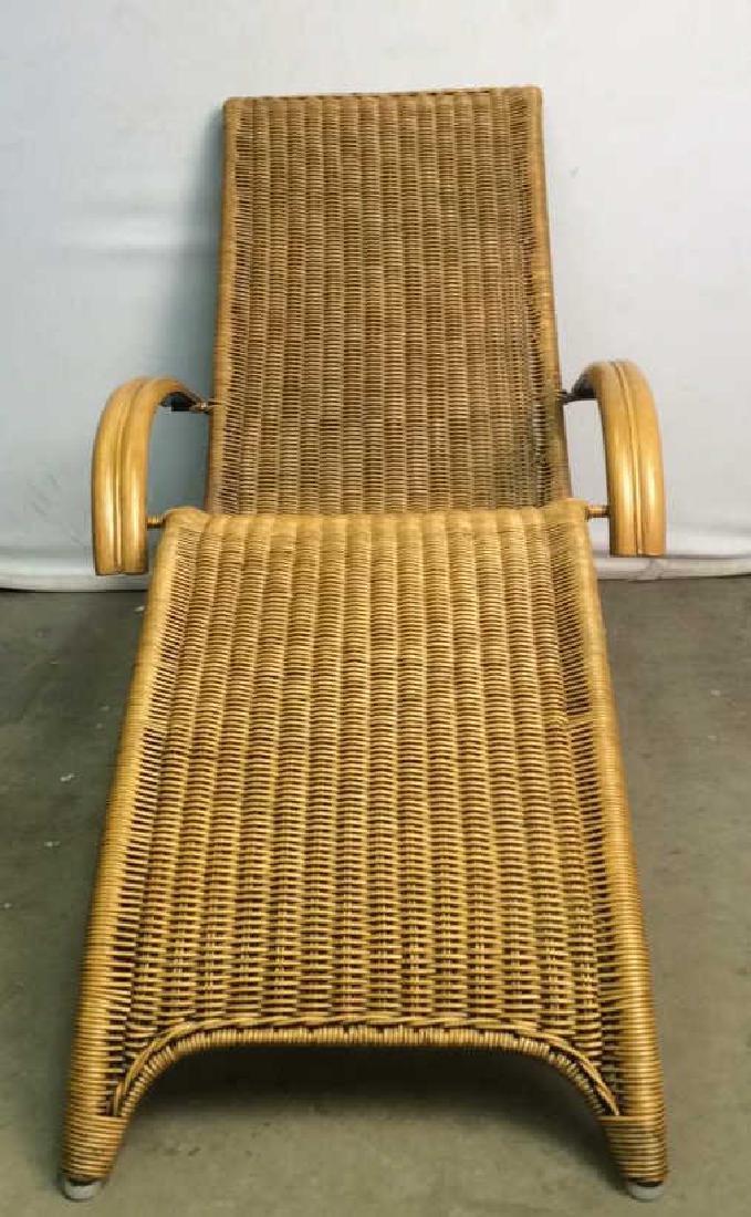 Wicker Rattan Plantation Lounge Arm Chair - 2