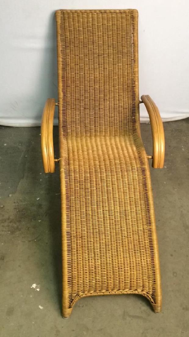 Wicker Rattan Plantation Lounge Arm Chair - 3