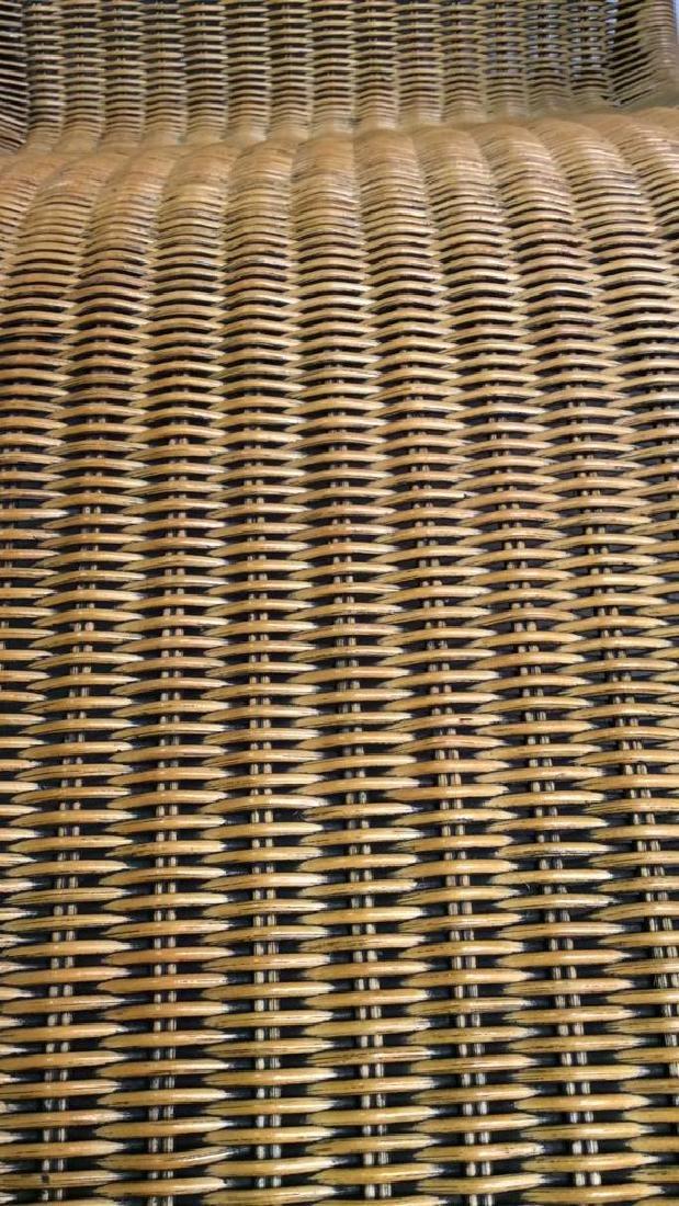 Wicker Rattan Plantation Lounge Arm Chair - 4