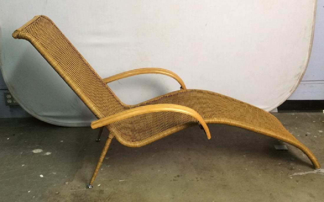 Wicker Rattan Plantation Lounge Arm Chair - 5