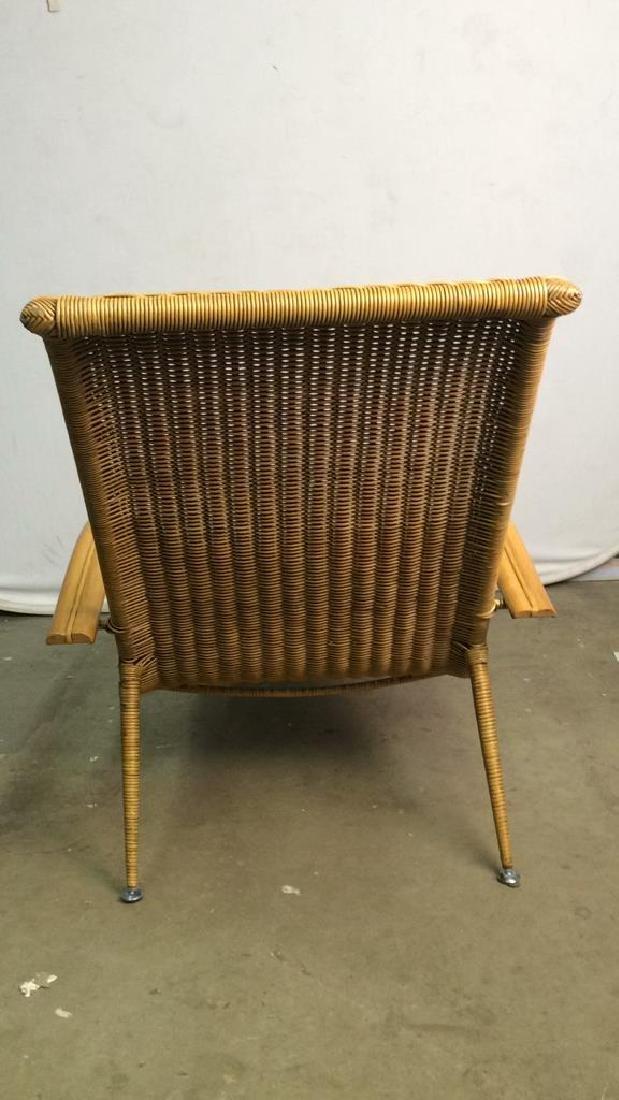 Wicker Rattan Plantation Lounge Arm Chair - 6