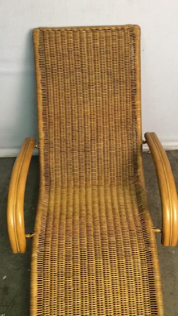 Wicker Rattan Plantation Lounge Arm Chair - 7