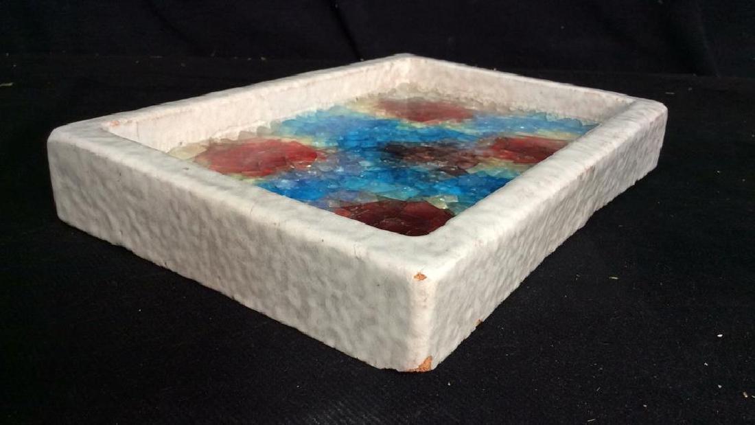 Md Century 1950s BITOSSI Italy Fused Glass Ceramic Dish - 5