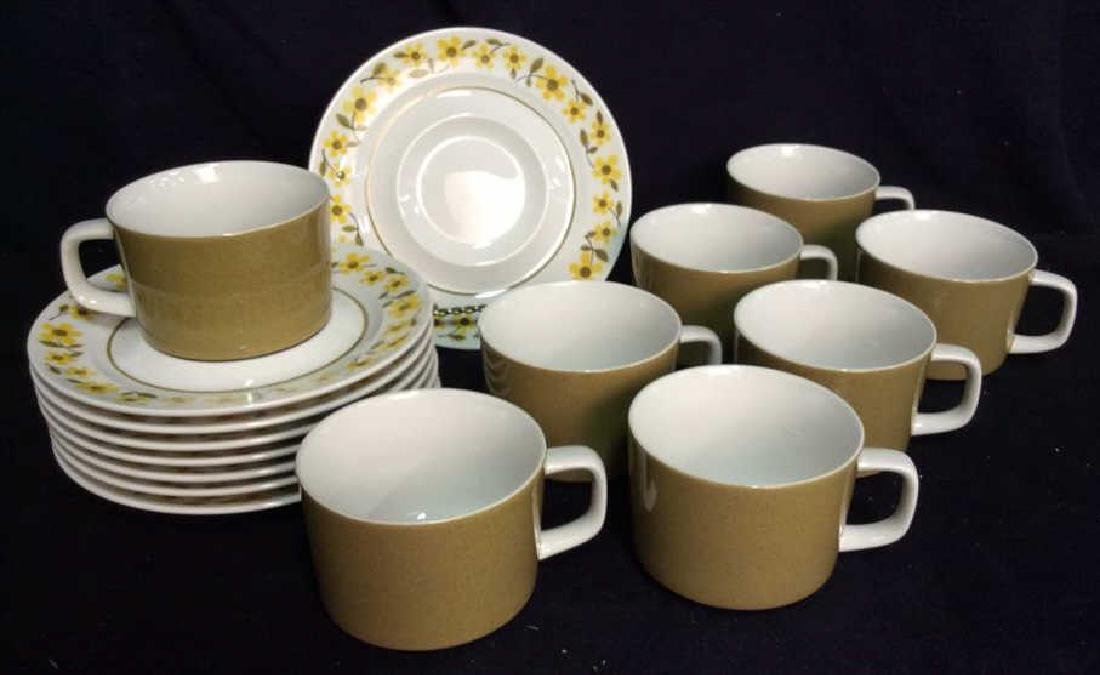 Set16 Mid Century 1970s MIKASA Teacups and Saucers